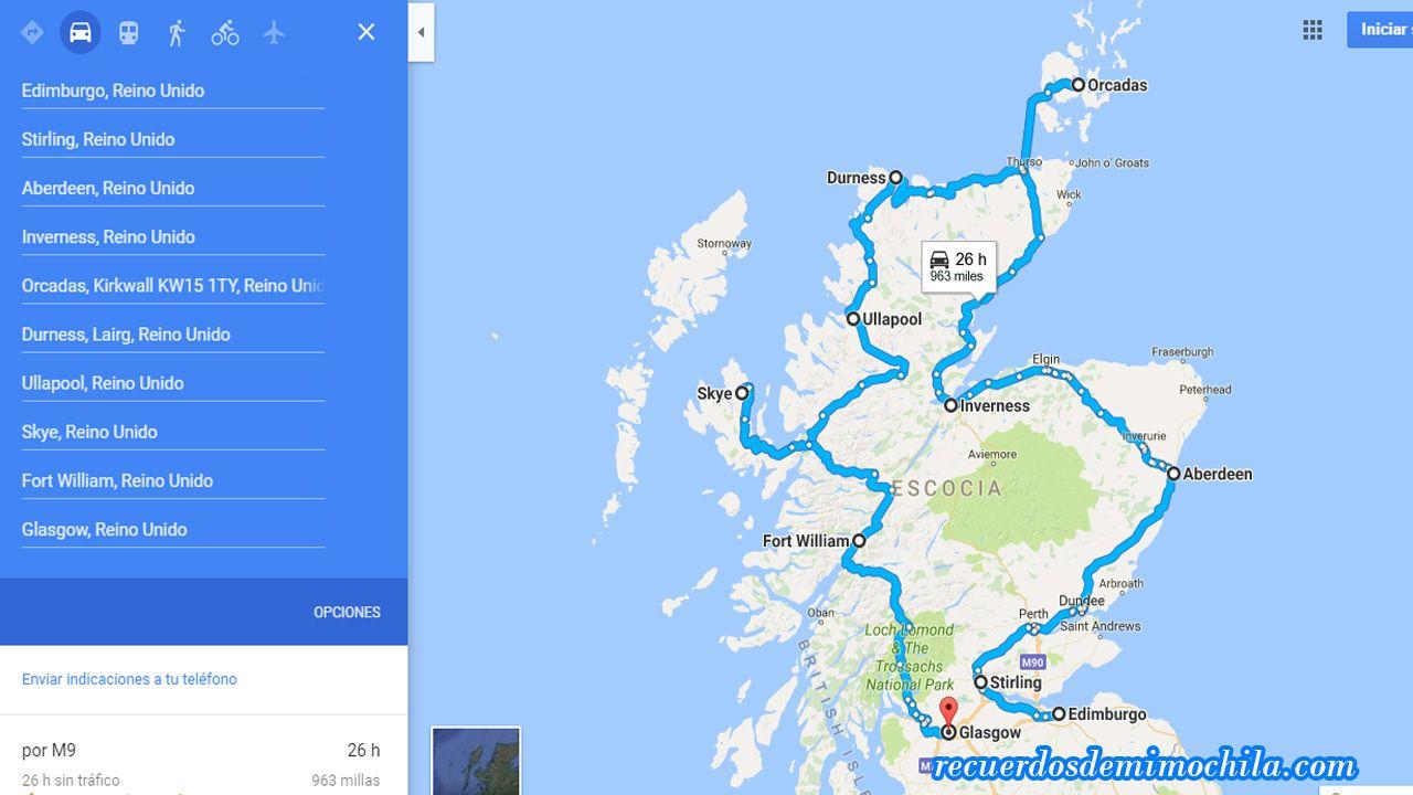 qué ver en escocia en 15 días