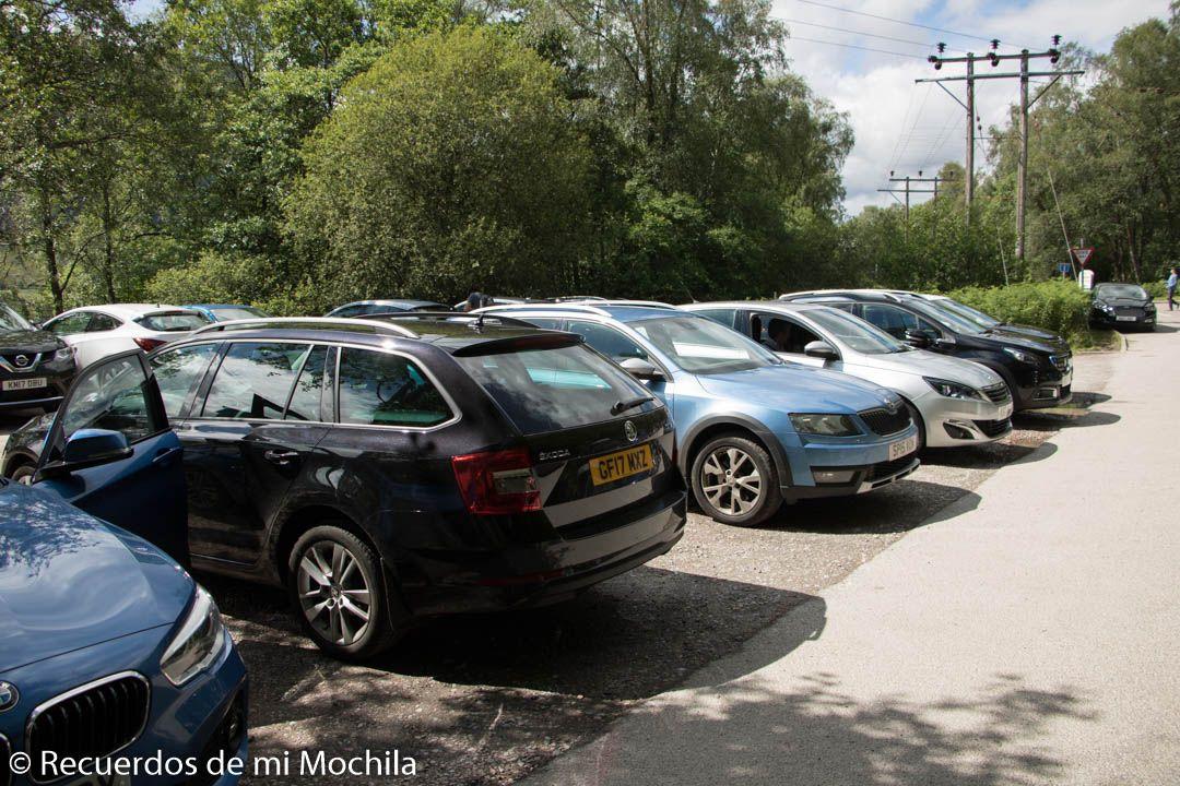 estacionamiento viaducto Glenfinnan