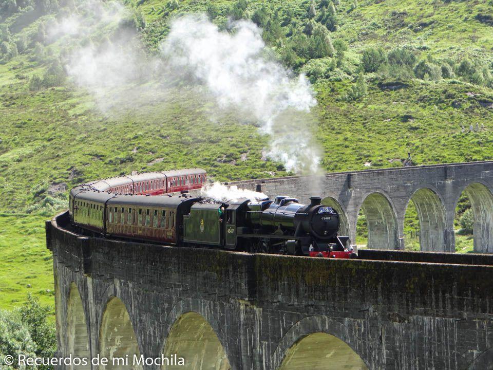 Visita al viaducto Glenfinnan y al famoso tren de Harry Potter