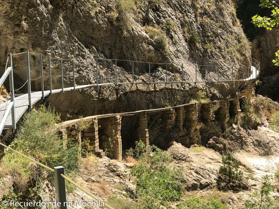 pasarelas del río Vero